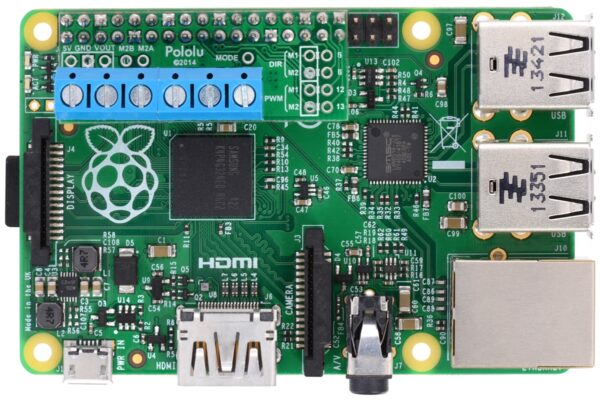 Pololu DRV8835 Dual Motor Driver Kit for Raspberry Pi B+