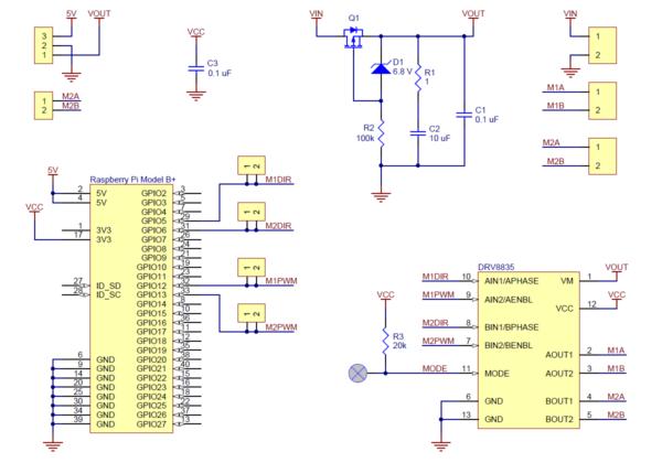 Pololu DRV8835 Dual Motor Driver Kit for Raspberry Pi B+-2860