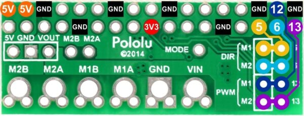 Pololu DRV8835 Dual Motor Driver Kit for Raspberry Pi B+-2858