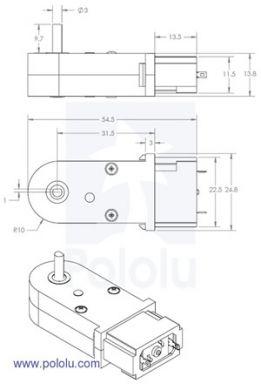 120:1 90 deg Motor & Gearbox