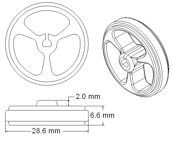 32x7 mm Wheel Drawing