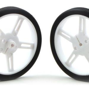 Pololu 60mm x 8 mm Wheel (pair) - White