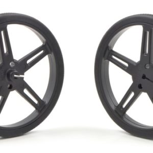 70mm x 8 mm Wheel (pair) - Black