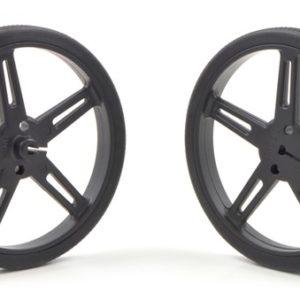 70mm x 8 mm Wheel (pair) - Black