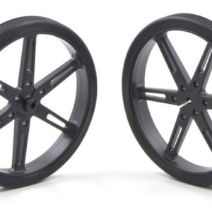 80mm x 10 mm Wheel (pair) - Black