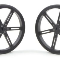 90mm x 10 mm Wheel (pair) - Black
