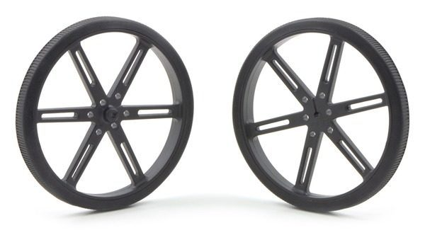 90mm x 10 mm Wheel (pair) - Black
