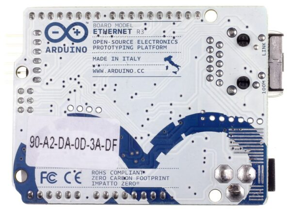 Arduino Ethernet Board Back