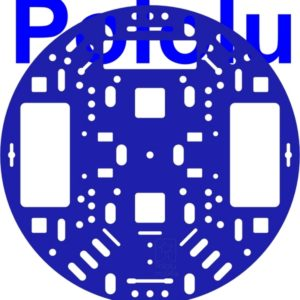 Pololu 5 inch Round Chassis (Blue)