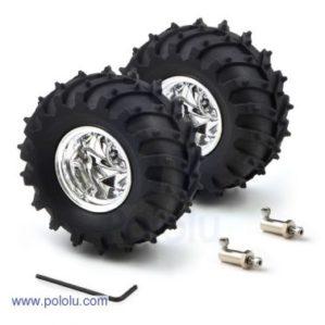 120mm Off Road Tyre & Wheel (pair)-0