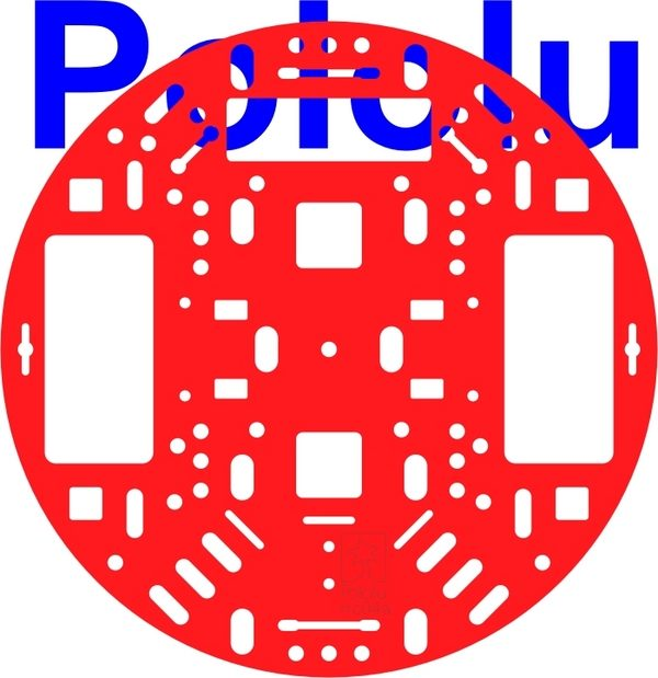 Pololu 5 inch Round Chassis (Red)