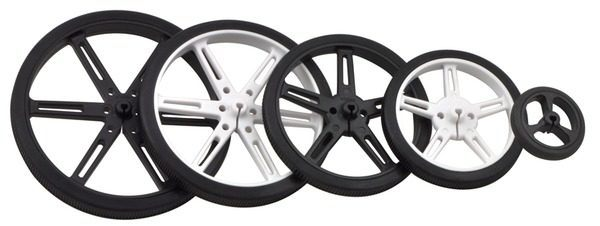Pololu 70mm x 8 mm Wheel (pair) - White