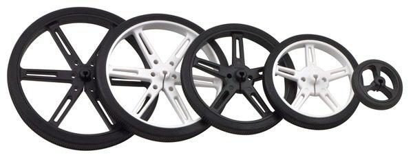 80mm x 10 mm Wheel (pair) - Black
