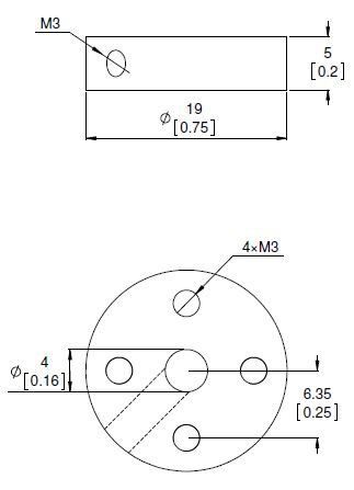 4mm Universal Wheel Hub (pair)