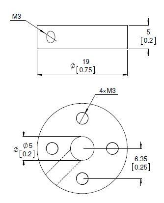 5mm Universal Wheel Hub (pair)-2990