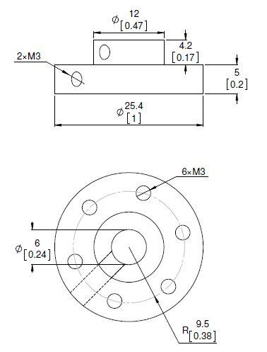 6mm Universal Wheel Hub (pair)-2985
