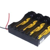 "Battery Holder: Li-Ion 18650 Battery Holder (1S4P) With 2.6"" long 20AWG & PCB -0"