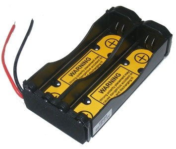 "Battery Holder: Li-Ion 18650 Battery Holder (2S1P) With 2.6"" long 20AWG & PCB-0"