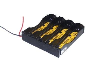 """Battery Holder: Li-Ion 18650 Battery Holder (2S2P) With 2.6"""" long 20AWG & PCB -0"""