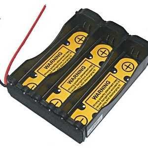 "Battery Holder: Li-Ion 18650 Battery Holder (1S3P) With 2.6"" long 20AWG & PCB-0"