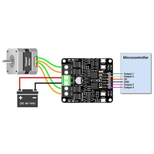 Cytron 3Amp 4V-16V DC Motor Driver (2 Channels)-3172