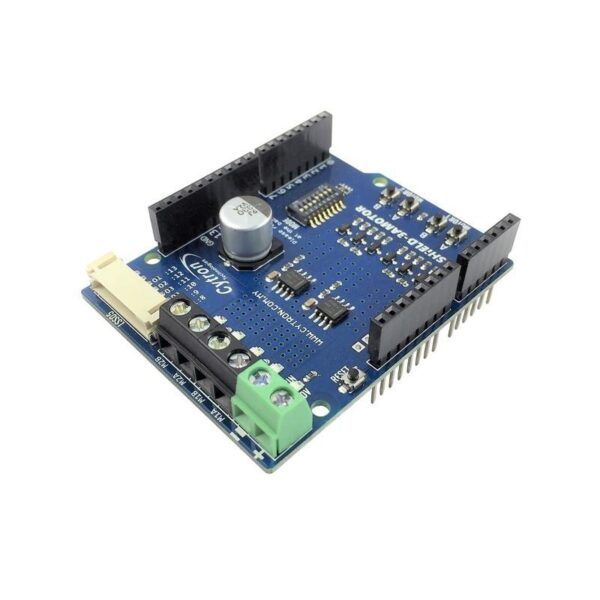 Cytron 1.2Amp 7V-30V DC Motor Driver Shield for Arduino (2 Channels)-0