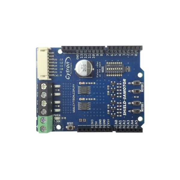 Cytron 1.2Amp 7V-30V DC Motor Driver Shield for Arduino (2 Channels)-3203