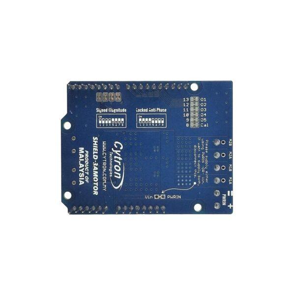 Cytron 1.2Amp 7V-30V DC Motor Driver Shield for Arduino (2 Channels)-3202