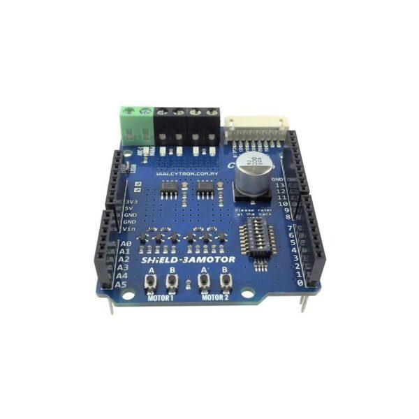 Cytron 1.2Amp 7V-30V DC Motor Driver Shield for Arduino (2 Channels)-3204